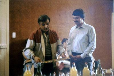 1984 : Erstes Treffen von Bürgermeister B. Barraux und Frank-R. Müller in Marcillat