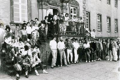 1985 : 1. gemeinsamer Schüleraustausch mit Marcillat und Néris (am Museum Abtei Liesborn)