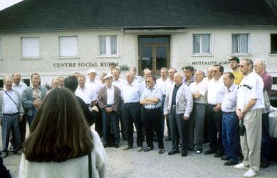 """1992: Der Männergesangsverein """"Frohsinn"""" Liesborn zu Gast in Marcillat"""