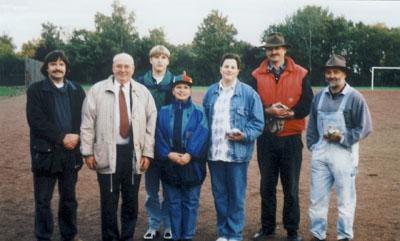 1996: 1. Boule-Turnier des DFF, hier das Siegerfoto