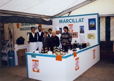 1996: Verkaufsstand der Partnergemeinde bei der HGW-Schau