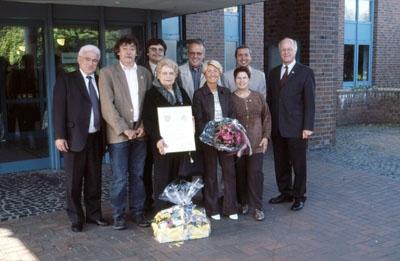 """2003: Jacqueline Murat aus Marcillat (""""Madame Jumelage"""") wird zur Ehrenpräsidentin des DFF ernannt"""