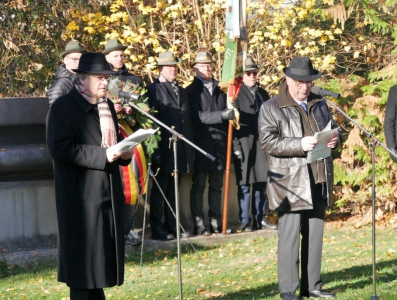 2018 - Rede von BM Christian Chito (Marcillat) am Volkstrauertag in Wadersloh