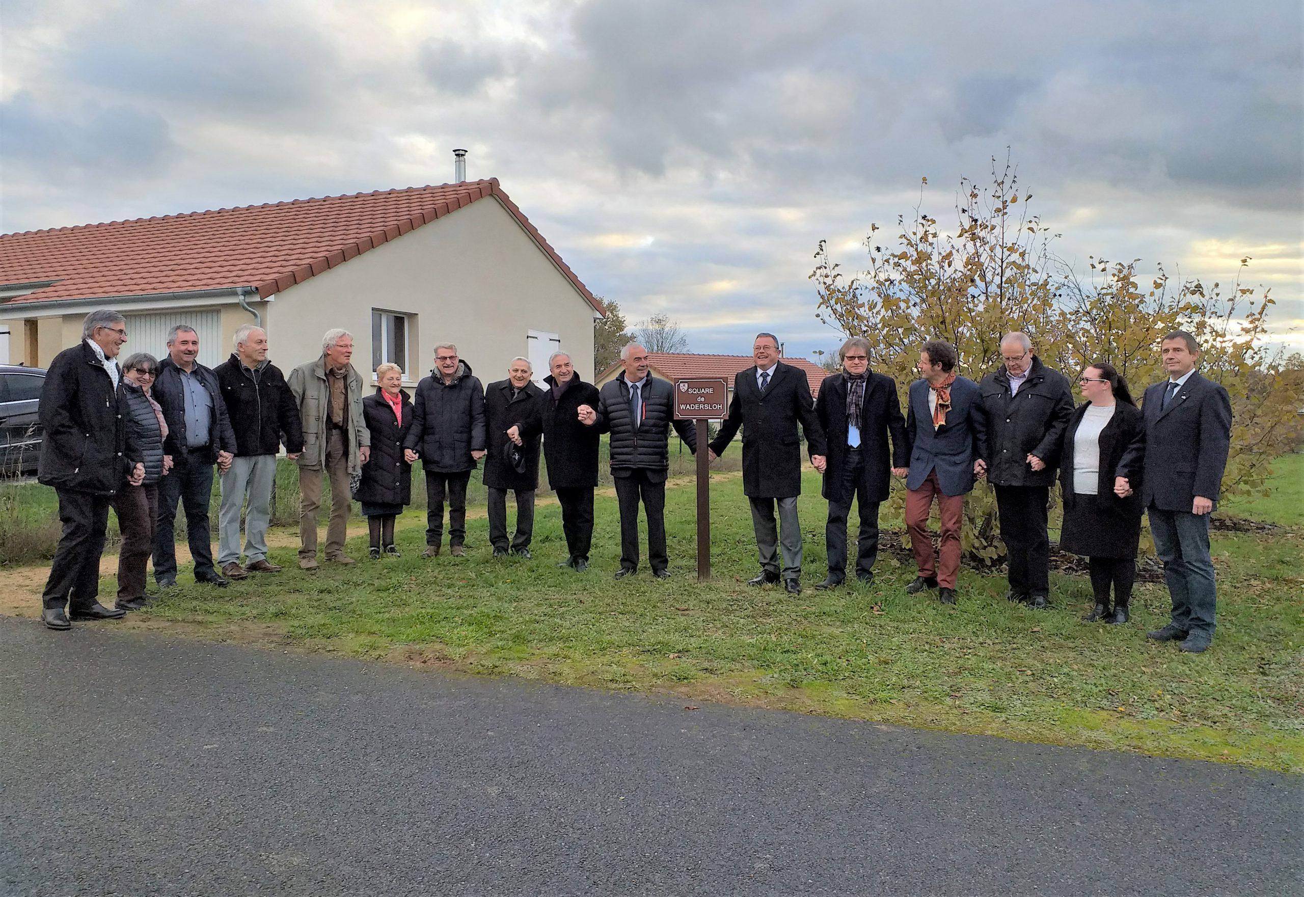 2019 - Einweihung des Square de Wadersloh in Marcillat