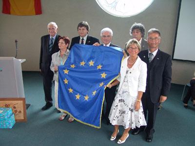2007 : Überreichung der Ehrenfahne des Europarates an die Gemeinde Wadersloh (weitere Fotos siehe 10 Jahre Néris)