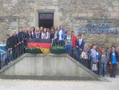 2012 : 1. Schüleraustausch mit dem Collège von Marcillat seit 1999