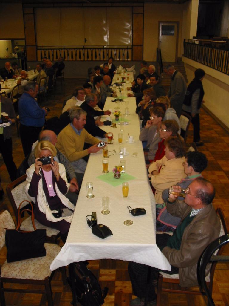 Empfang in der Partnergemeinde Faulungen (Thüringen)