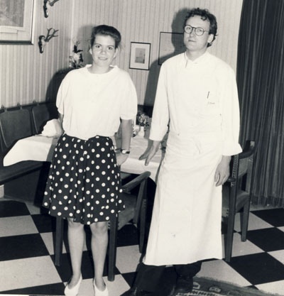 Catherine Gonon aus Marcillat beim Betriebspraktikum im Ringhotel Bomke  im Juni 1991