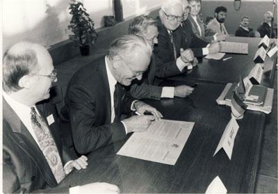 Partnerschaftsfeier 1991 in Marcillat