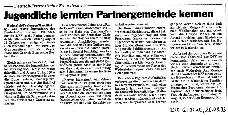 Jugendfahrt 1993