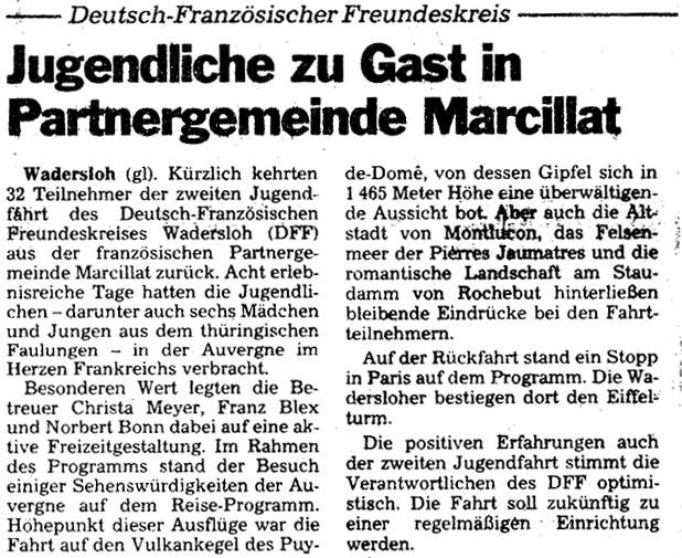 Jugendfahrt 1995