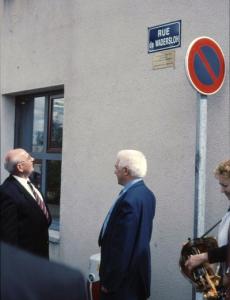 """Einweihung der """"Rue de Wadersloh"""" in Néris"""