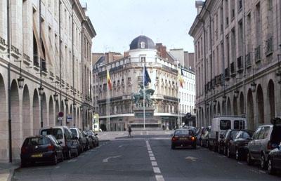 In Orléans (Standbild der Jeanne d'Arc)