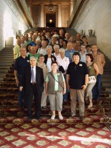 Gruppenbild mit Senator-Bürgermeister Bernard Barraux