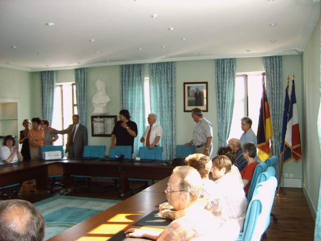 Empfang im Rathaus in Néris-les-Bains