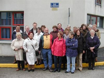 "Fototermin an der ""Rue de Wadersloh in Néris-les-Bains"