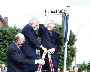 Einweihung der Nérisstraße in Wadersloh