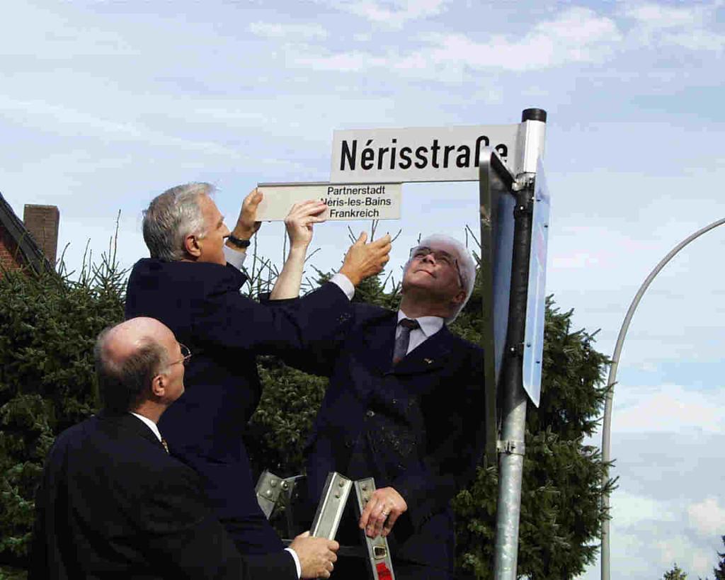 von links: BM Gövert, Bürgermeister und  Senator Barraux, Bürgermeister De Pin