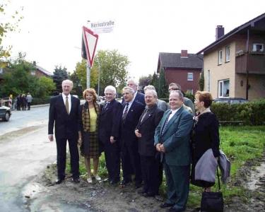 Die französische Delegation des Stadtrates von Néris