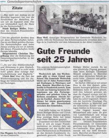 Die Glocke - Zeitungsartikel