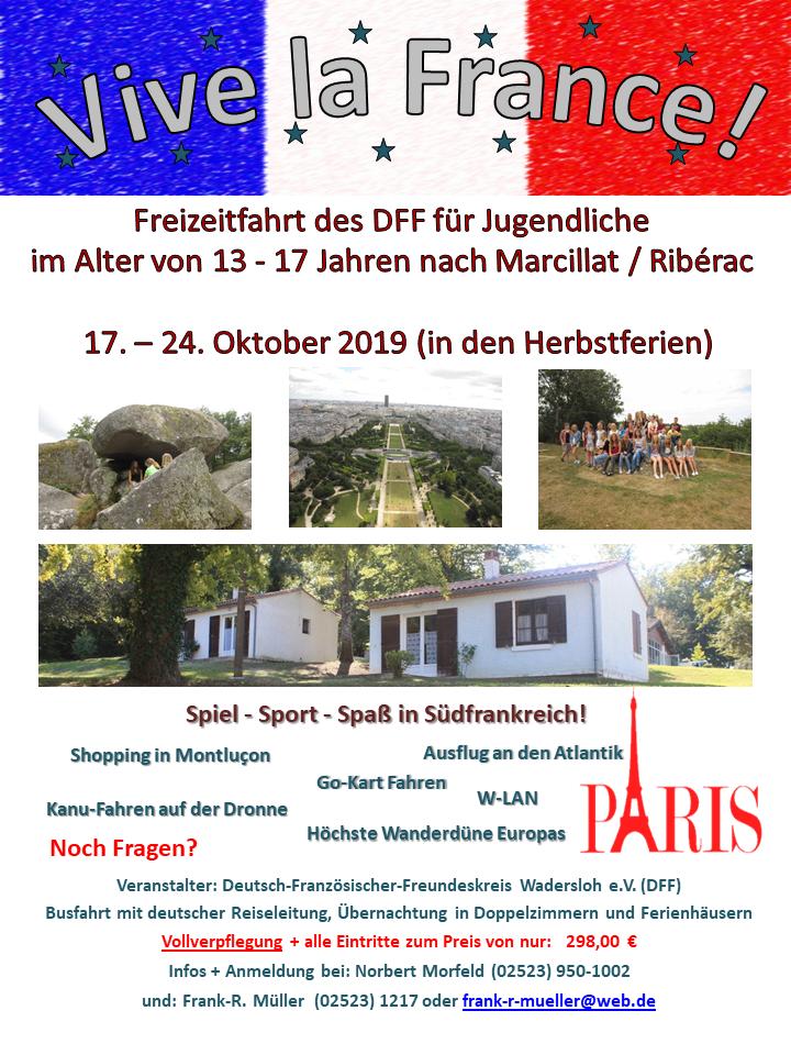Freizeitfahrt des DFF für Jugendliche
